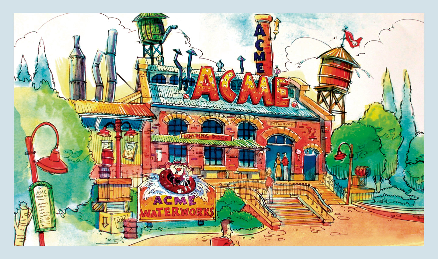 ACME Waterworks Attraction Concept